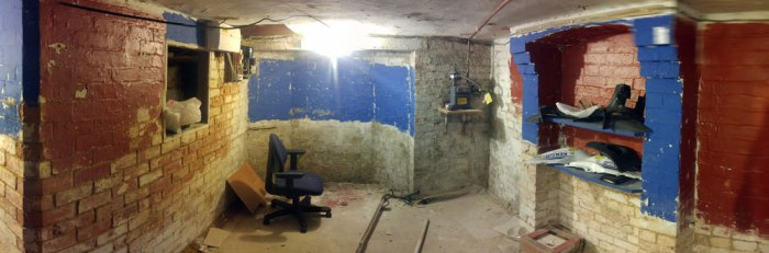 The cellar cleared ready for work